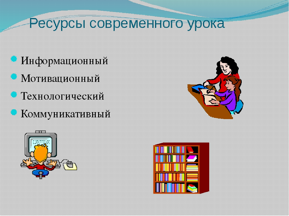 Ресурсы современного урока Информационный Мотивационный Технологический Комму...