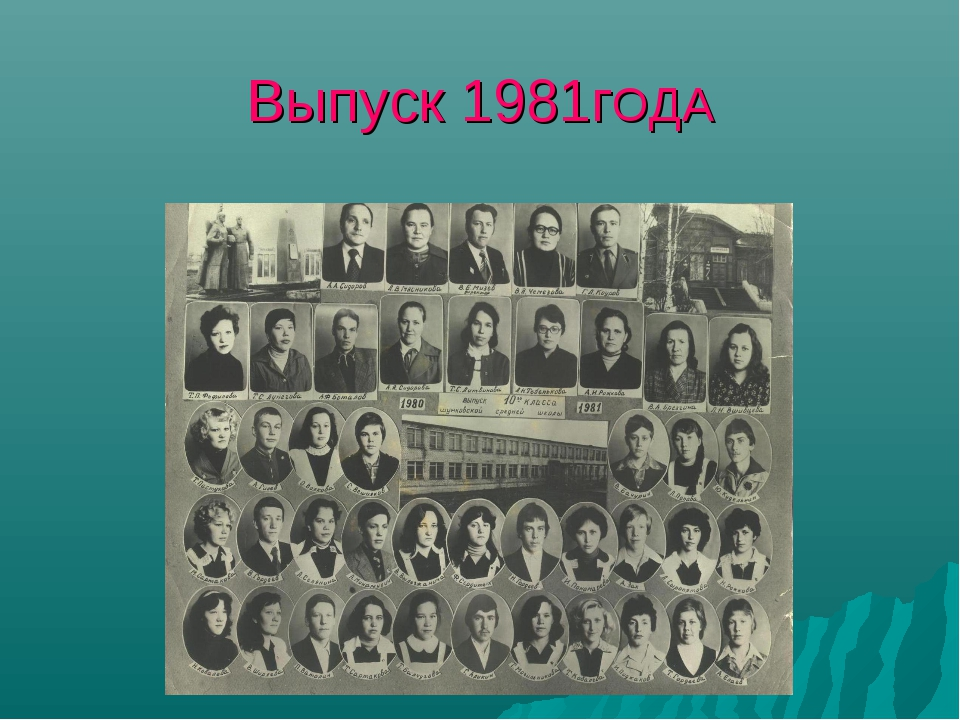 Выпуск 1981гОДА