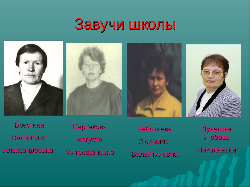 Завучи школы Брезгина Валентина Александровна Сартакова Августа Митрофановна...
