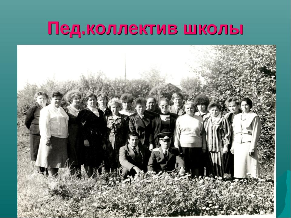 Пед.коллектив школы