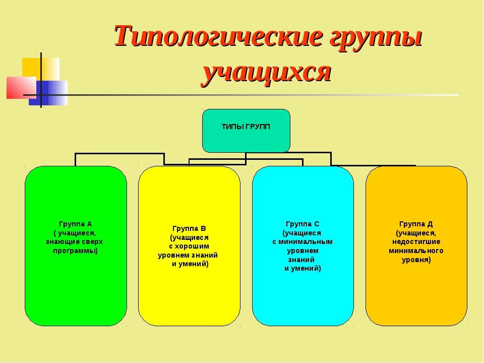 Типологические группы учащихся