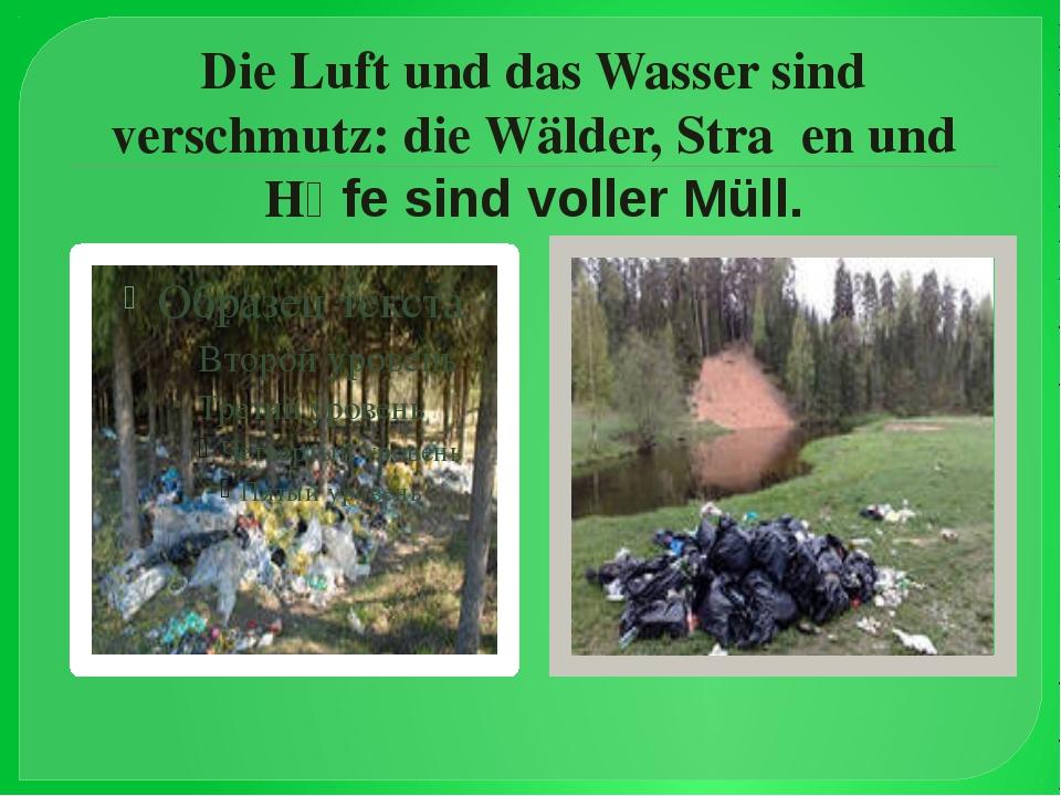 Die Luft und das Wasser sind verschmutz: die Wälder, Straβen und Hӧfe sind vo...