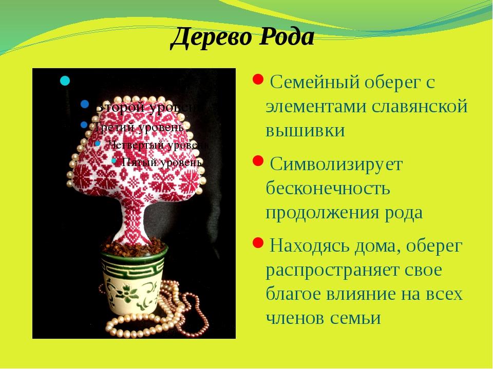 Дерево Рода Семейный оберег с элементами славянской вышивки Символизирует бес...