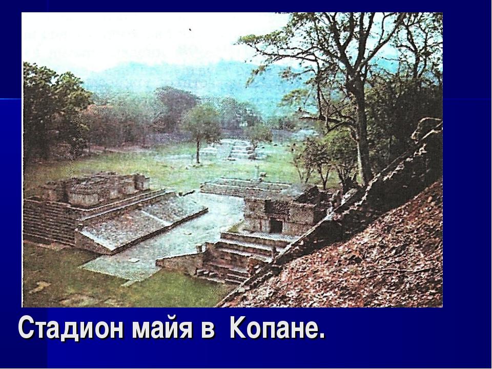 Стадион майя в Копане.