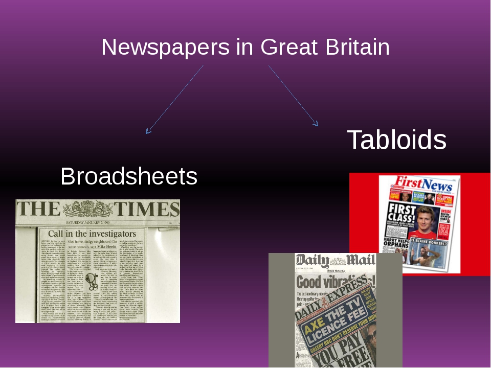 Newspapers in Great Britain Broadsheets Tabloids