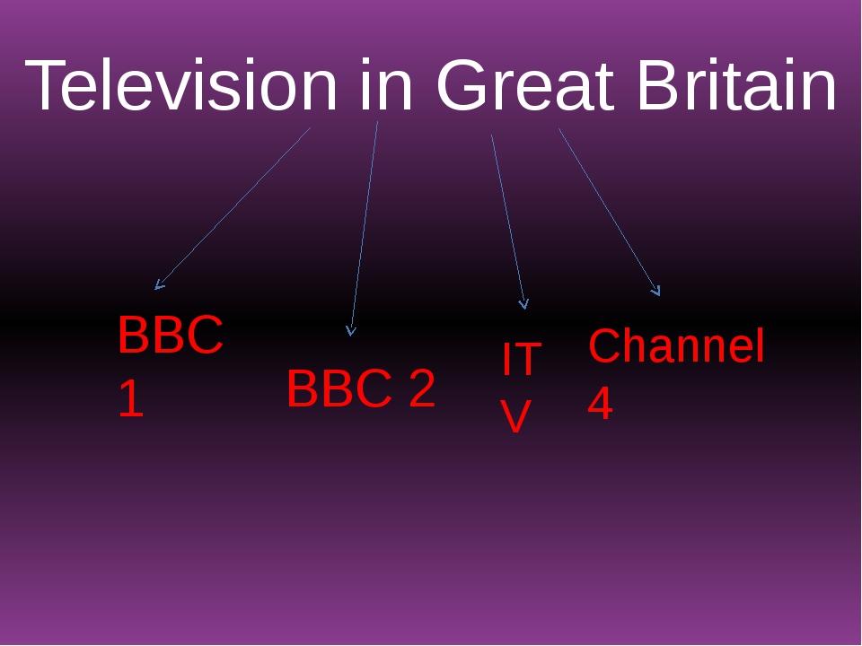 Television in Great Britain BBC 1 BBC 2 ITV Channel 4