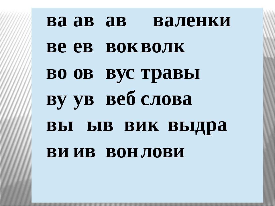 ваававваленки вееввокволк вооввустравы вууввебслова выыввиквыдра вииввонлови