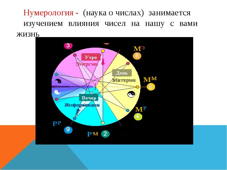 Нумерология - (наука о числах) занимается изучением влияния чисел на нашу с в...