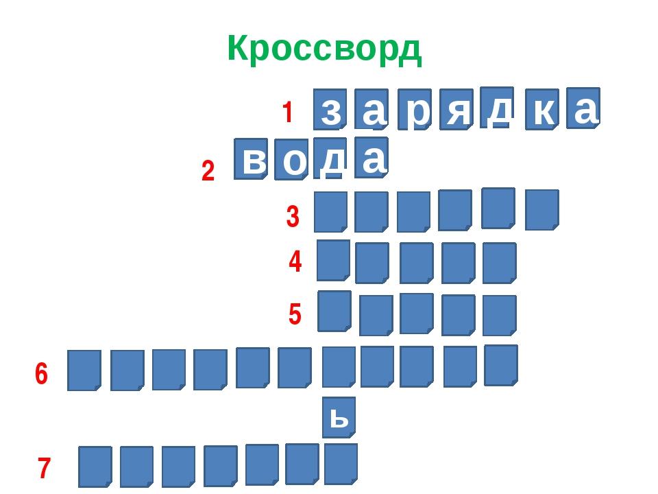 Кроссворд з а р я д к а д а о в ь 1 2 3 4 5 6 7
