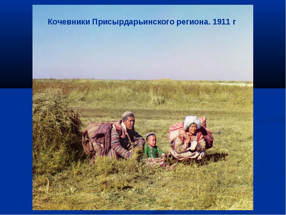 Кочевники Присырдарьинского региона. 1911 г