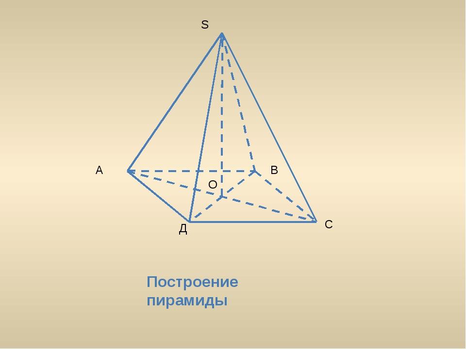 А В С Д О S Построение пирамиды
