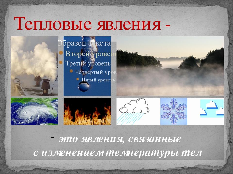 Картинки тепловые явления в природе