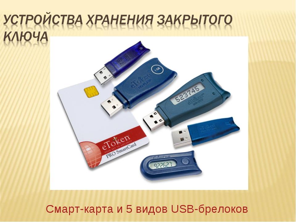 Смарт-карта и 5 видов USB-брелоков