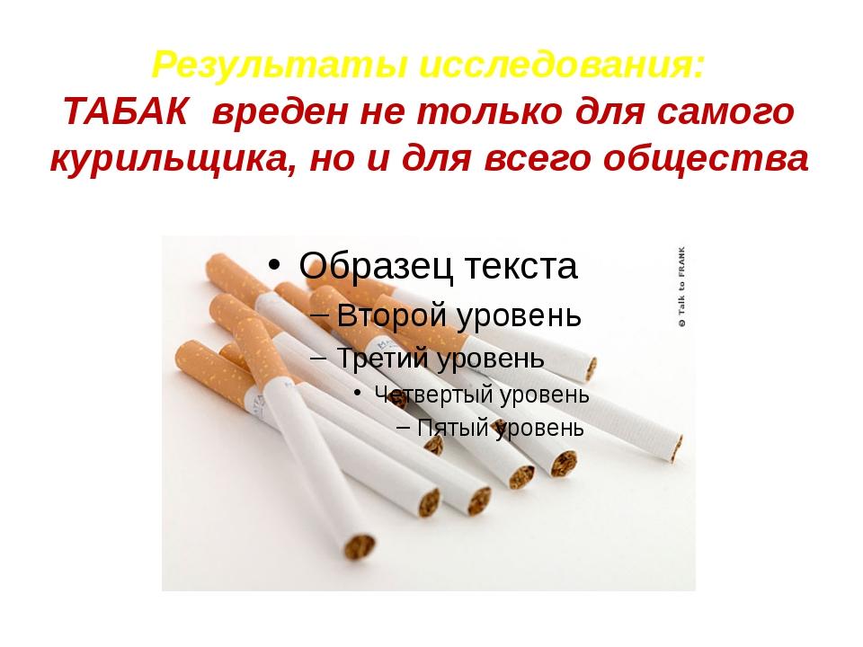 Результаты исследования: ТАБАК вреден не только для самого курильщика, но и д...