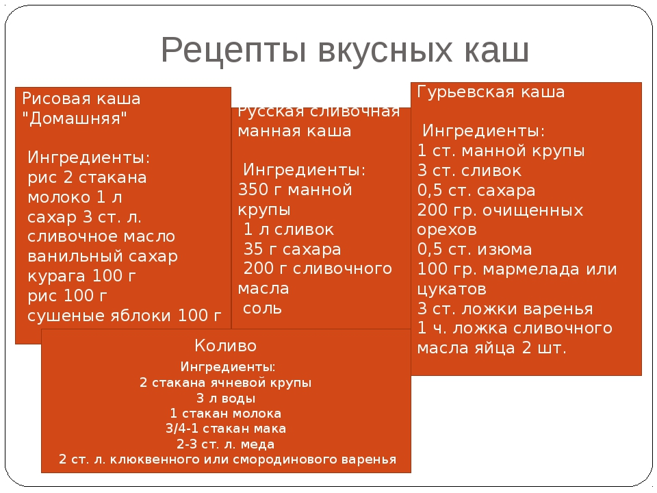 """Рецепты вкусных каш Рисовая каша """"Домашняя"""" Ингредиенты: рис 2 стакана молоко..."""