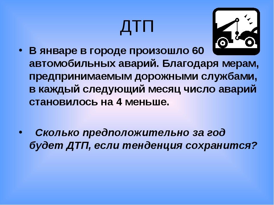 ДТП В январе в городе произошло 60 автомобильных аварий. Благодаря мерам, пре...