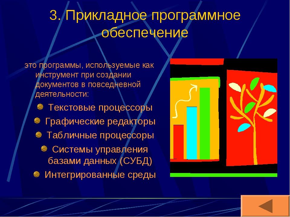 3. Прикладное программное обеспечение это программы, используемые как инструм...