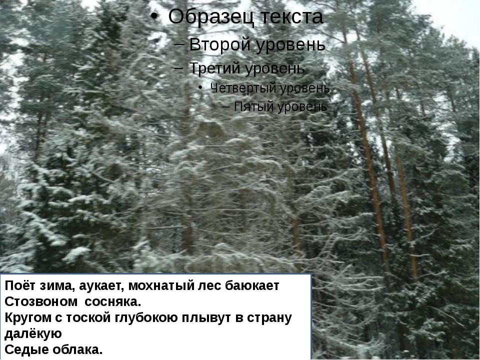 Поёт зима, аукает, мохнатый лес баюкает Стозвоном сосняка. Кругом с тоской г...
