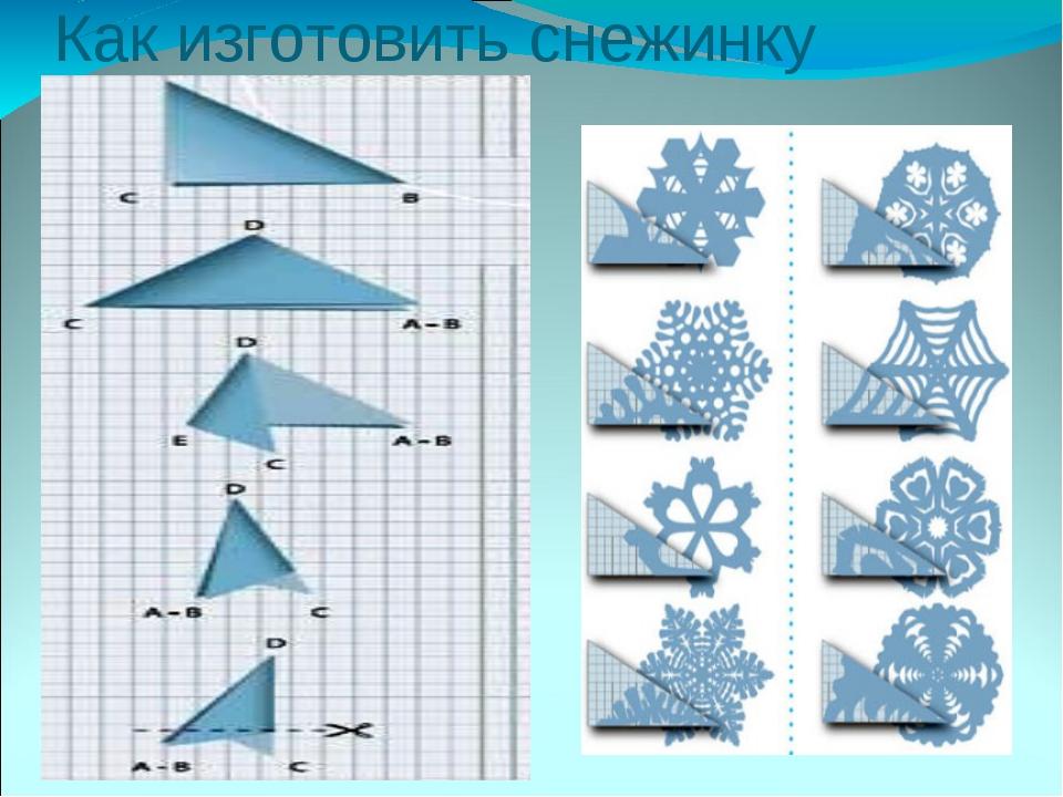 Как изготовить снежинку