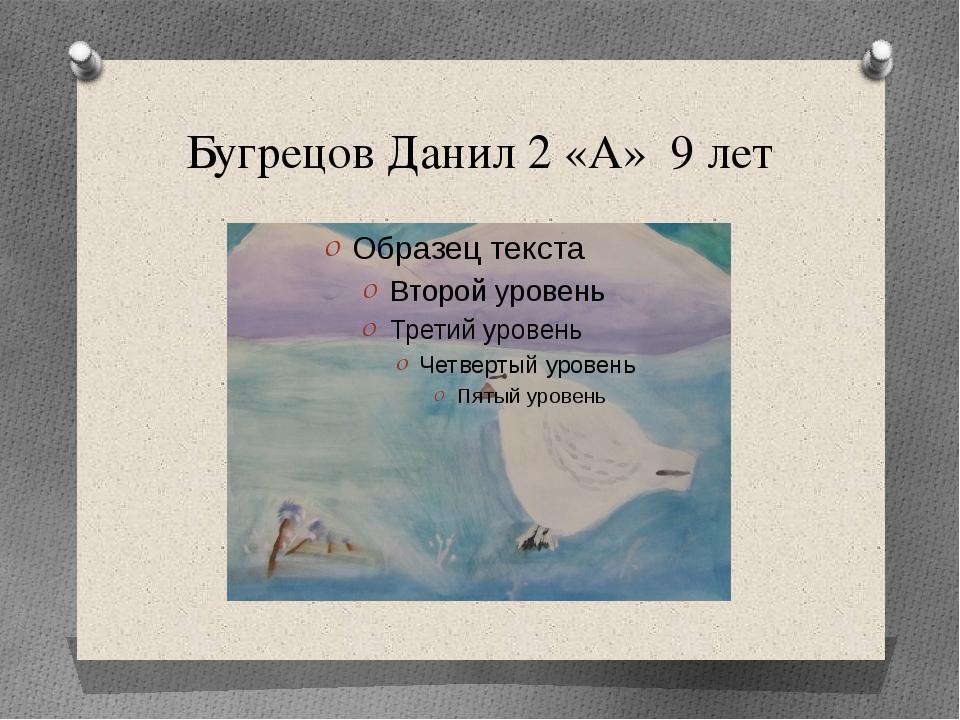 Бугрецов Данил 2 «А» 9 лет