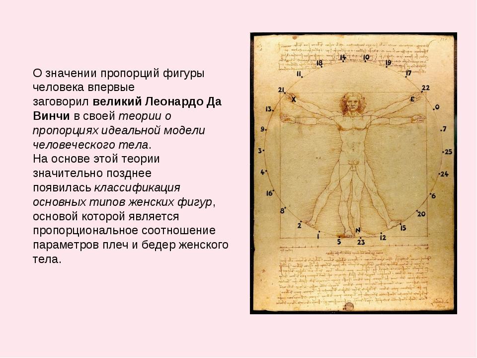 О значении пропорций фигуры человека впервые заговорилвеликийЛеонардо Да Ви...