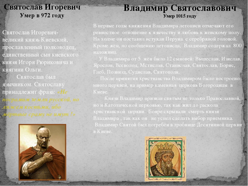 Святослав Игоревич- великий князь Киевский, прославленный полководец, единств...