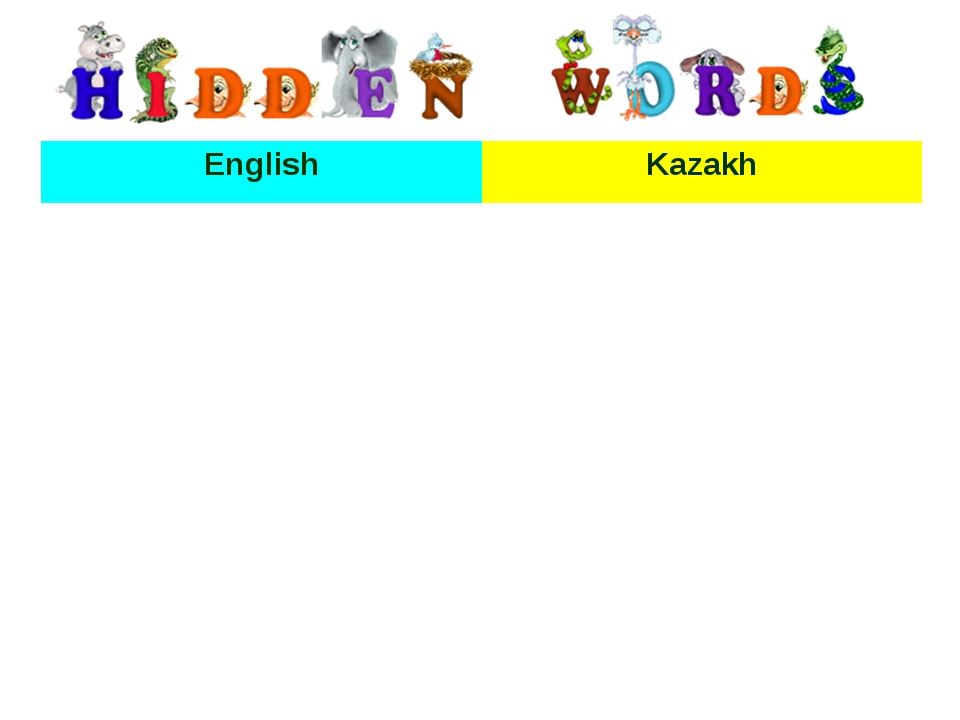 EnglishKazakh