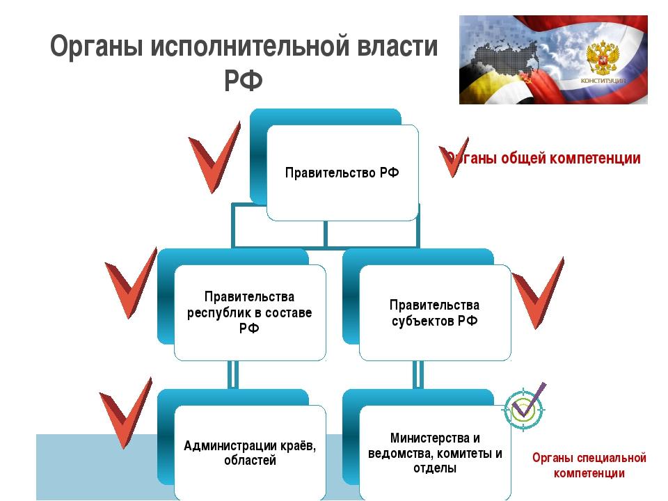 Правительство РФ Правительства республик в составе РФ Администрации краёв, об...