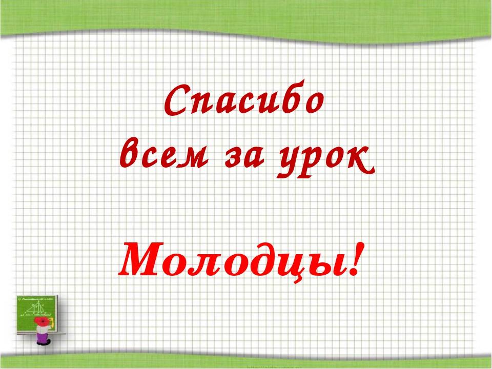 http://aida.ucoz.ru Спасибо всем за урок Молодцы!
