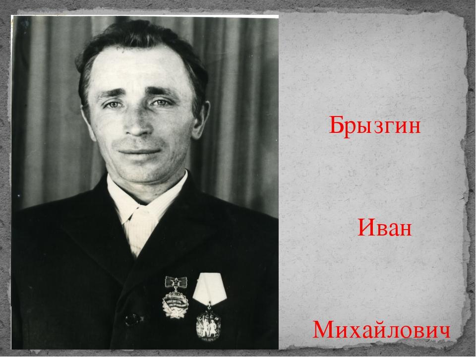 Брызгин Иван Михайлович