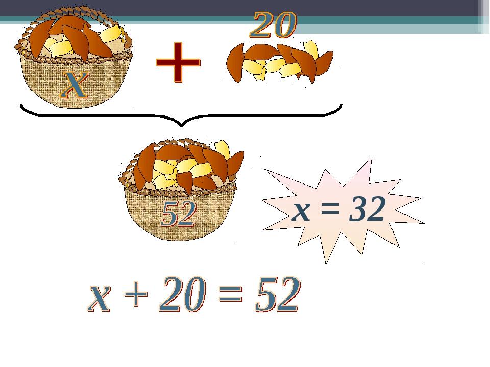 х = 32