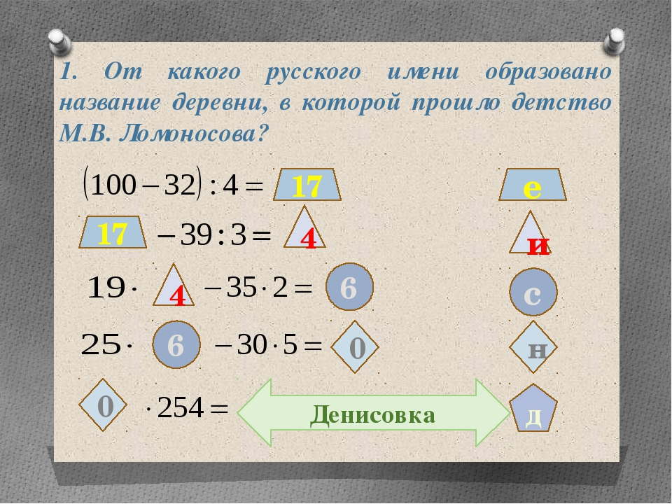 1. От какого русского имени образовано название деревни, в которой прошло дет...