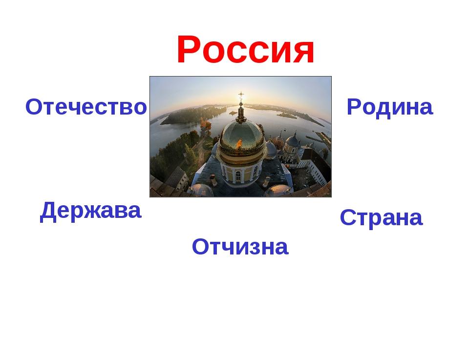 Россия Отечество Держава Страна Родина Отчизна