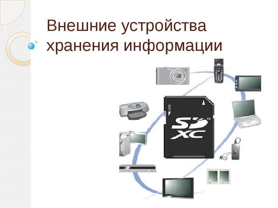 Внешние устройства хранения информации
