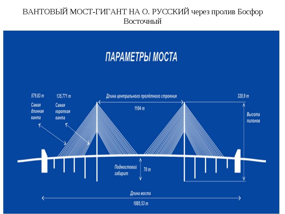 ВАНТОВЫЙ МОСТ-ГИГАНТ НА О. РУССКИЙ через пролив Босфор Восточный