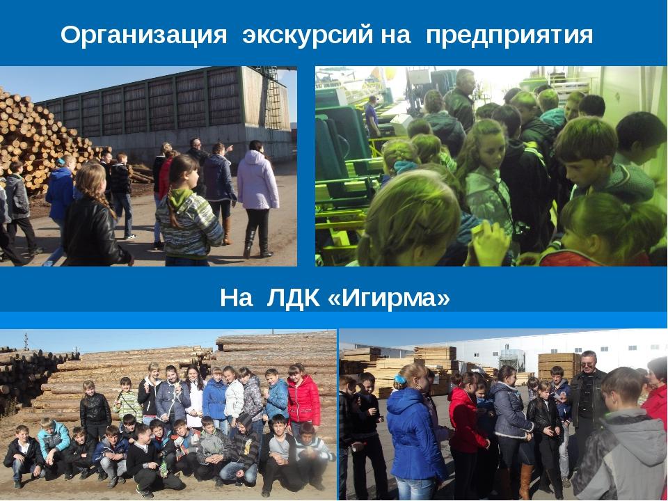 Организация экскурсий на предприятия На ЛДК «Игирма»