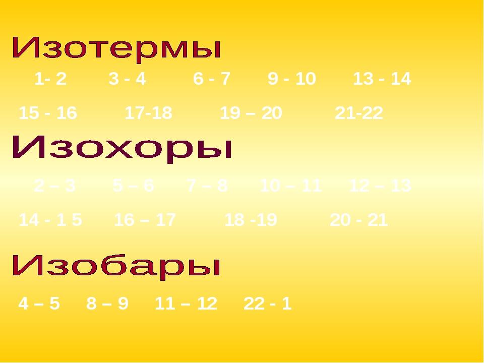 1- 2 3 - 4 6 - 7 9 - 10 13 - 14 15 - 16 17-18 19 – 20 21-22 4 – 5 8 – 9 11 –...