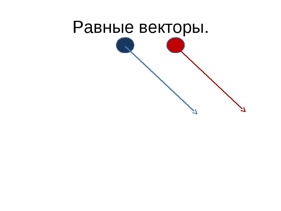 Равные векторы.