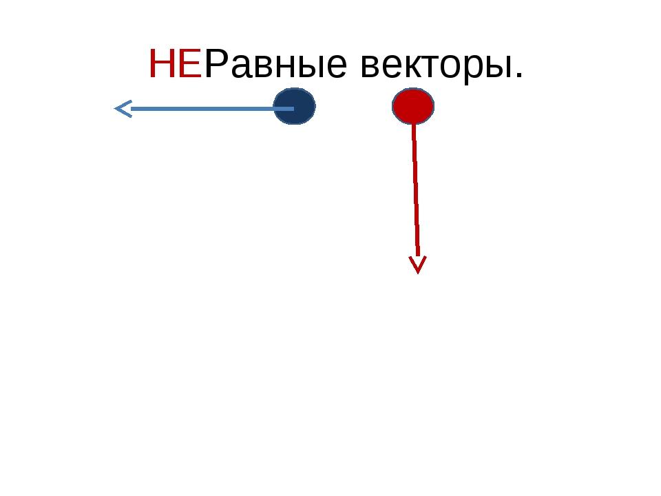 НЕРавные векторы.