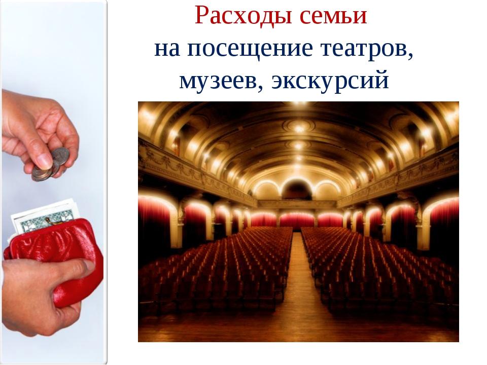 Расходы семьи на посещение театров, музеев, экскурсий