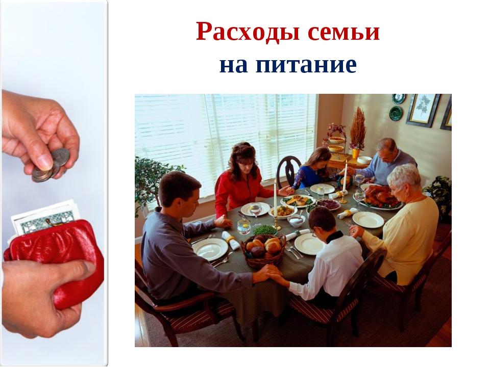 Расходы семьи на питание