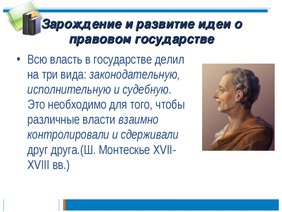 Зарождение и развитие идеи о правовом государстве Всю власть в государстве де...