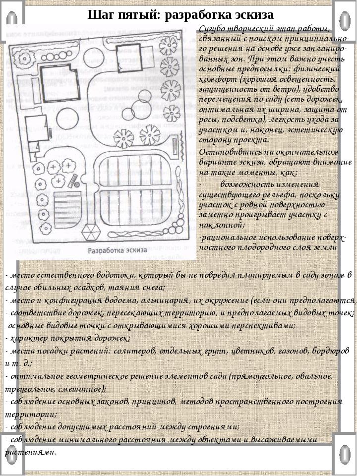 Шаг пятый: разработка эскиза Сугубо творческий этап работы, связанный с поиск...