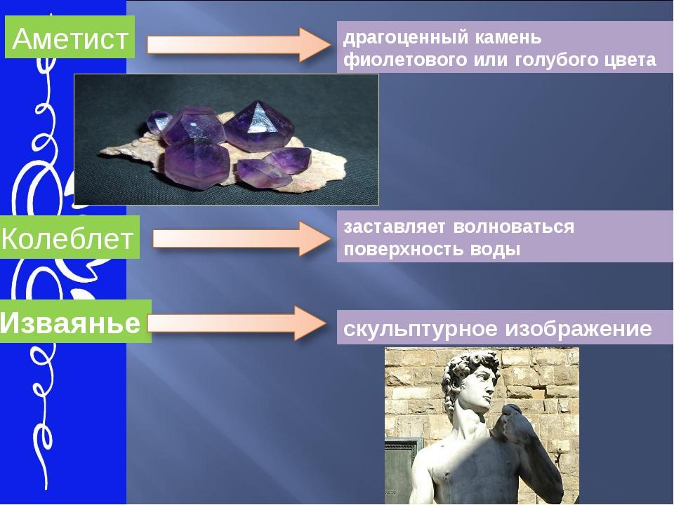 Аметист Колеблет Изваянье драгоценный камень фиолетового или голубого цвета з...