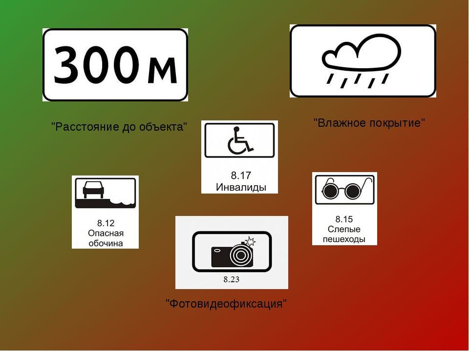 """""""Влажное покрытие"""" """"Расстояние до объекта"""" """"Фотовидеофиксация"""""""