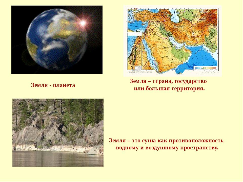 Земля - планета Земля – это суша как противоположность водному и воздушному п...