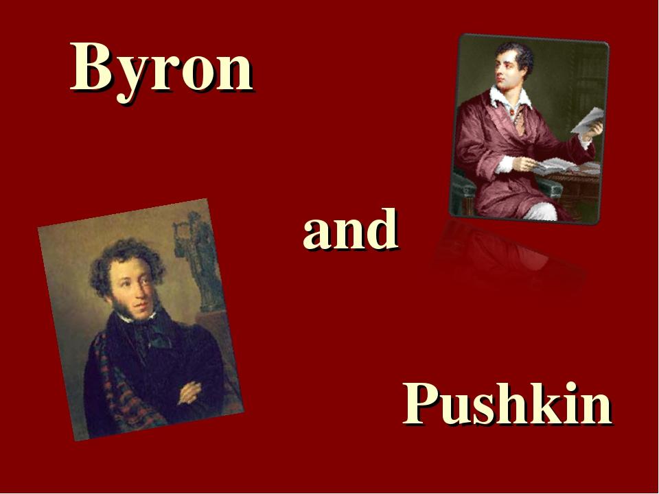 Byron and Pushkin