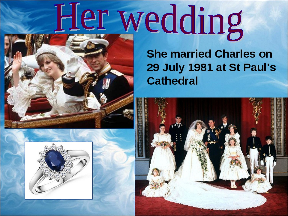She married Charles on 29 July 1981 at St Paul's Cathedral