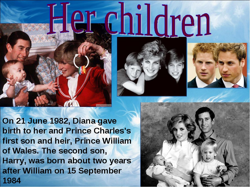 On 21 June 1982, Diana gave birth to her and Prince Charles's first son and h...