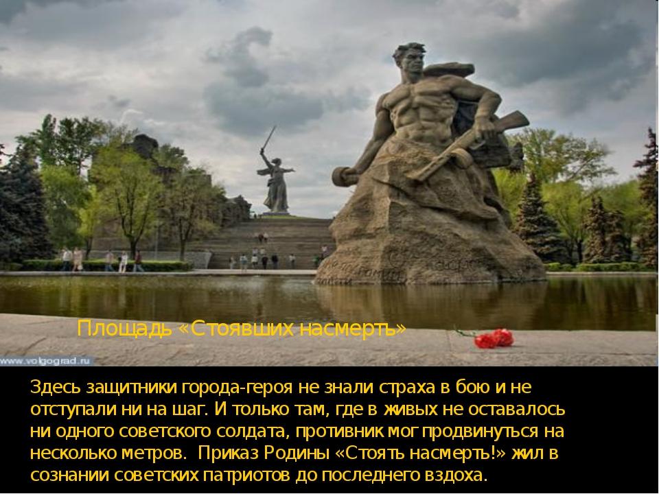 Здесь защитники города-героя не знали страха в бою и не отступали ни на шаг....